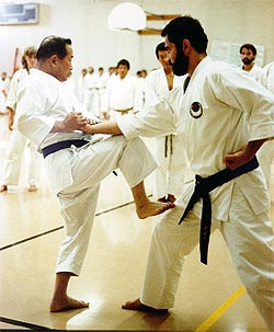 Madani trains with Master Nakayama