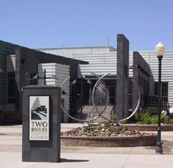 Entrance to the Two Rivers Convention Center